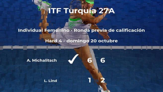 La tenista Alina Michalitsch pasa de ronda del torneo de Antalya