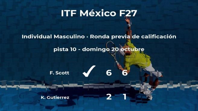 Fletcher Scott consigue ganar en la ronda previa de calificación a costa del tenista Kin Javier Gutierrez