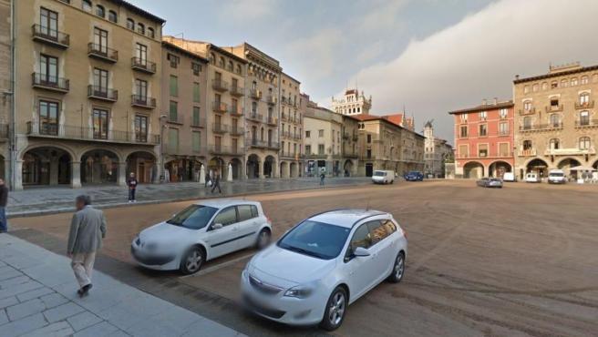 Imagen de la plaza Mayor de Vic (Barcelona).
