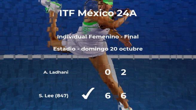La tenista Sarah Lee ganó a Arisha Ladhani en la final del torneo ITF Mexico 24A