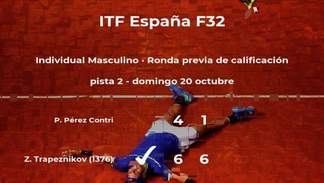 El tenista Pau Pérez Contri, eliminado del torneo de Benicarló