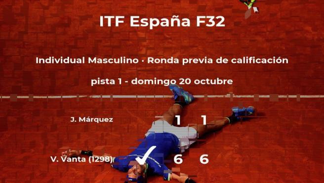Valentin Vanta ganó a Joaquín Márquez en la ronda previa de calificación del torneo de Benicarló