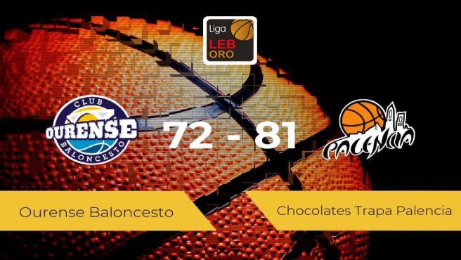 El Chocolates Trapa Palencia se queda con la victoria frente al Ourense Baloncesto por 72-81