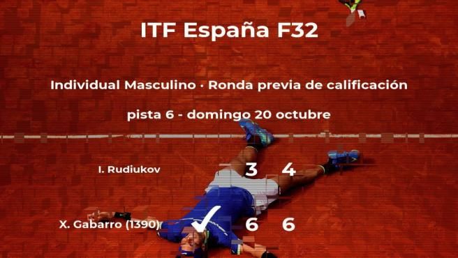 El tenista Xavier Gabarro pasa de ronda del torneo de Benicarló