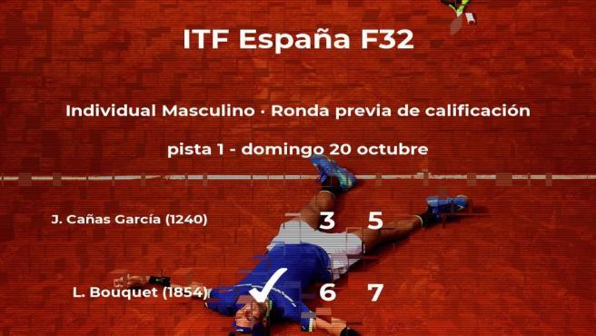 Juan Pablo Cañas García se despide del torneo de Benicarló