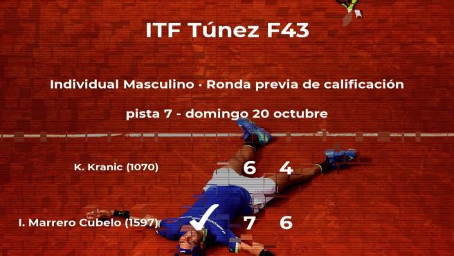 Victoria para el tenista Iván Marrero Cubelo en la ronda previa de calificación