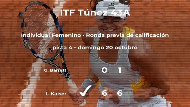 Victoria para Lara Kaiser en la ronda previa de calificación