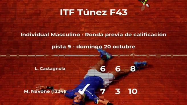 Mariano Navone consigue la plaza para la siguiente fase tras vencer en la ronda previa de calificación