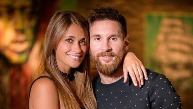 Lionel Messi y Antonela Roccuzzo.