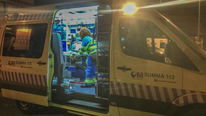 Una ambulancia del del Servicio de Urgencia Médica de la Comunidad de Madrid, SUMMA 112.