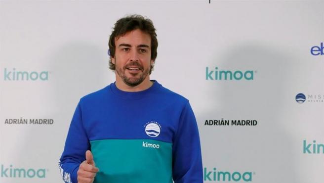 Fernando Alonso, en un acto en Madrid