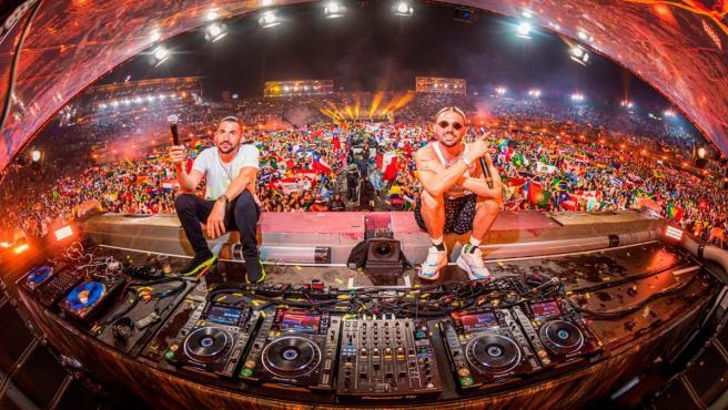 Los djs Dimitri Vegas & Like Mike