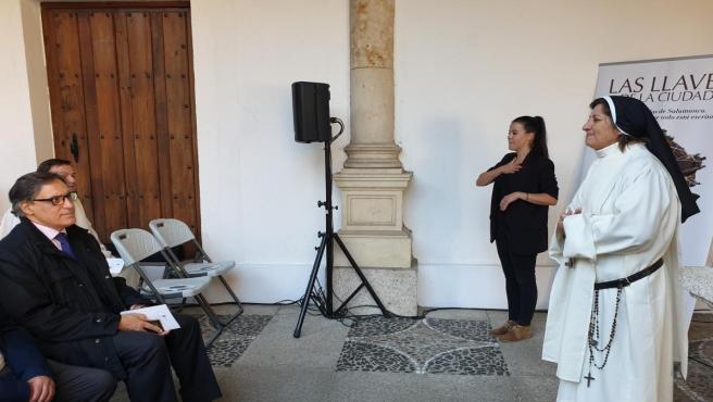 Presentación teatralizada de 'Las llaves de la ciudad' en el Convento de las Dueñas en Salamanca