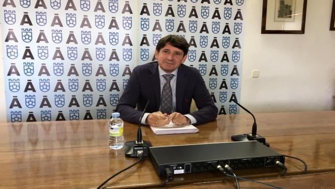 Rueda de prensa del portavoz de la Diputación de Ávila, Juan Carlos Sánchez.