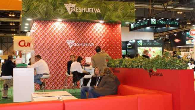 Stand de Freshuelva en Fruit Attraction, en Madrid.