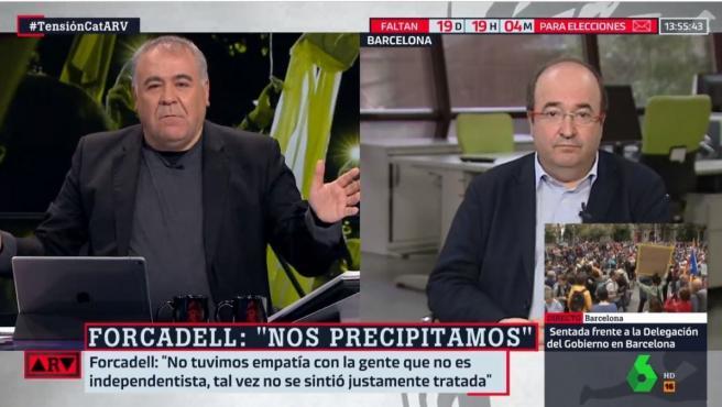 Antonio García Ferreras, durante la emisión de 'Al Rojo Vivo'.