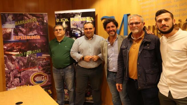 La Diputación de Málaga se suma al 50 aniversario del Grupo de Exploraciones Subterráneas de Pizarra (Málaga)