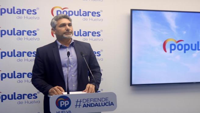 El presidente del PP de Huelva, Juan José Cortés.
