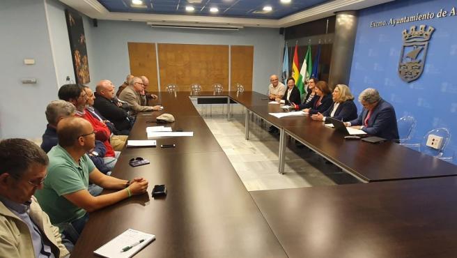 Reunión de la consejera de Agricultura, Carmen Crespo, con regantes de Granada