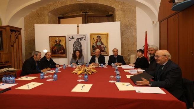 Reunión del jurado del premio 'Jorge Manrique' que concede la Diputación de Palencia.