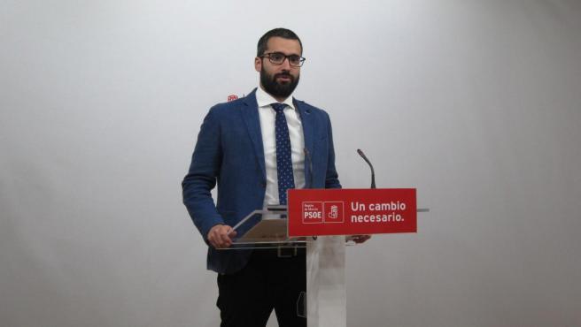 El portavoz y vicesecretario general del PSRM-PSOE, Francisco Lucas