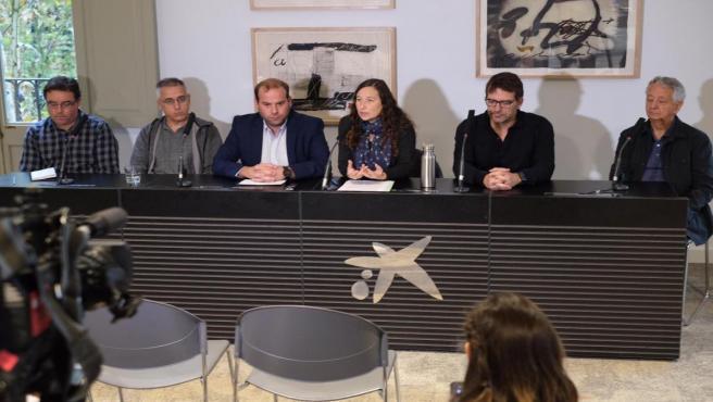 Rueda de prensa de la presentación de la iniciativa 'Informe Mar Balear'.
