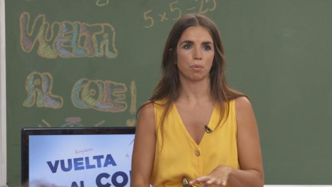 Elena Furiase se somete a las preguntas de los niños de 'La vuelta al cole'.