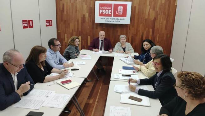 Reunión en el PSOE de Córdoba para analizar los presupuestos de la Junta de la Andalucía respecto a la provincia para 2020.