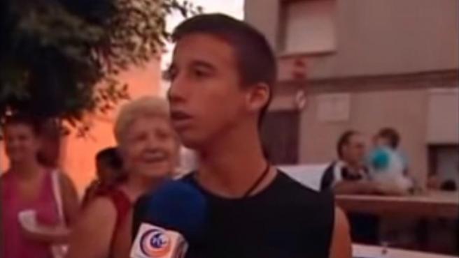 Emilio José Martí Gómez se hizo viral por esta aparición en una televisión valenciana.