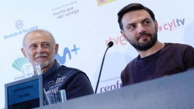 El actor Ivan Savov y el dialoguista Decho Taralezhkov presentan la película 'Bashtata' en la 64 Seminci.