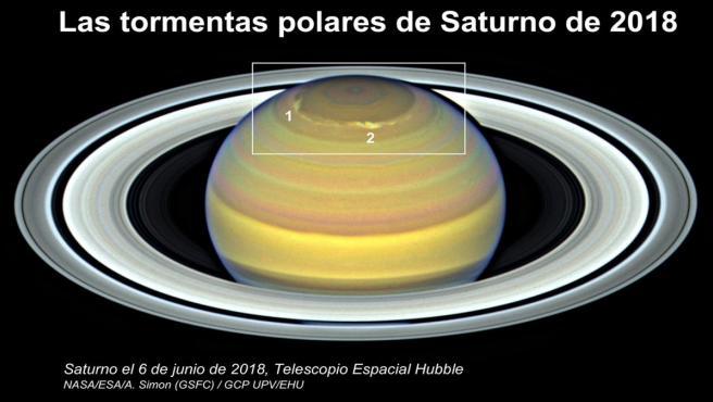 Gráfico del artículo sobre las tormentas en Saturno.