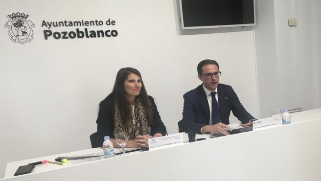La delegada de Agricultura, Ganadería, Pesca y Desarrollo Sostenible de la Junta en Córdoba, Araceli Cabello, en rueda de prensa