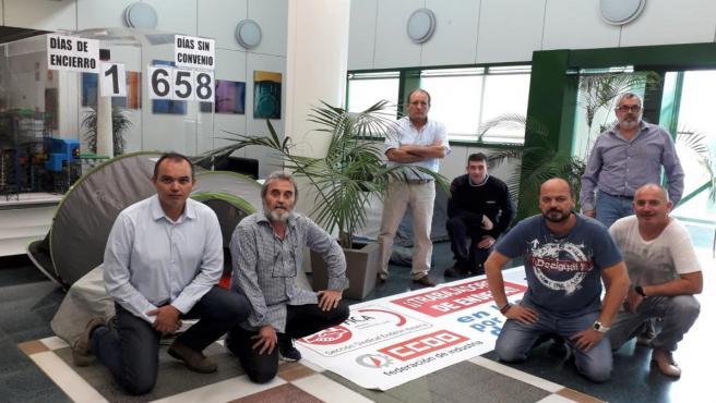 El comité de empresa de Endesa en Carboneras (Almería) se encierra por el bloqueo del convenio
