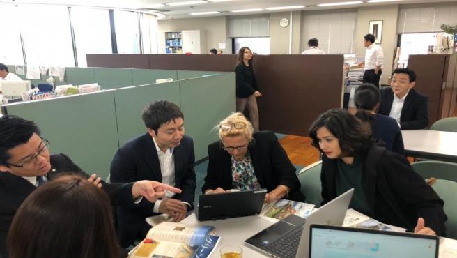 Las representantes del Gobierno de Cantabria y el Ayuntamiento de Santander mantuvieron reuniones con agencias de viajes y tour operadores japoneses