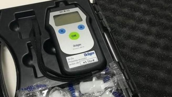 Alcohólimetro de la Policía Foral