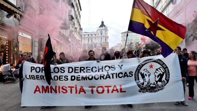 Fotografía de la manifestación en contra de la sentencia del Procés en Madrid el pasado sábado.