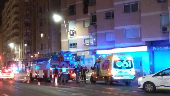 Operativo desplegado con motivo del incendio en Almería