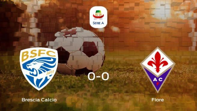 El Brescia Calcio y la Fiorentina logran un punto después de empatar a cero