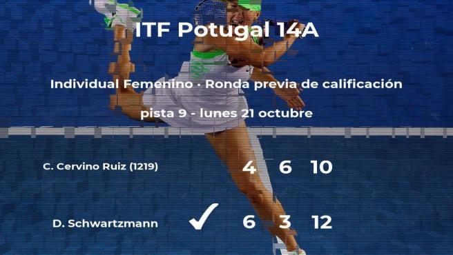 La tenista Celia Cervino Ruiz, eliminada del torneo de Lousada