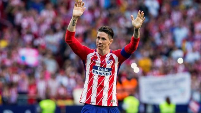 Fernando Torres, en su despedida.