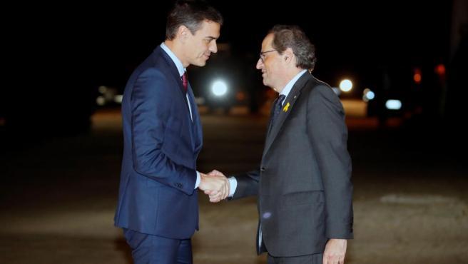 Sánchez y Torra durante un encuentro en diciembre de 2018.