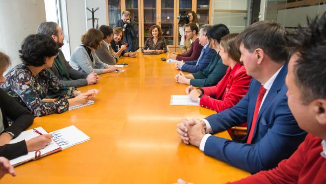 11:00 ICASS, 4ª planta. La consejera de Empleo y Políticas Sociales, Ana Belén Álvarez, se reúne con entidades del sector de la dependencia. 22 de octubre de 2019 © Raúl Lucio