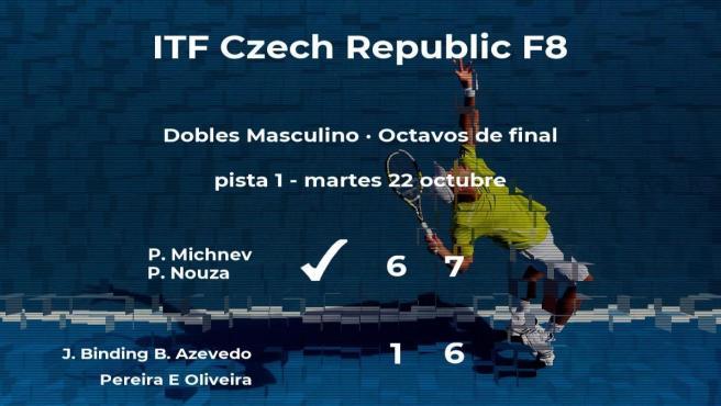 Los tenistas Michnev y Nouza pasan a la siguiente fase del torneo de Liberec tras vencer en los octavos de final