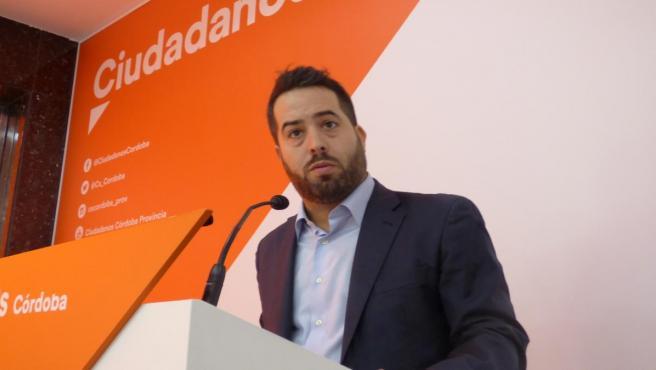 El parlamentario andaluz de Cs por Córdoba y senador autonómico, Fran Carrillo, en una imagen de archivo.