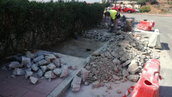 Obras de accesibilidad en Rincón de la Victoria