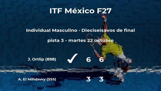 El tenista Joshua Ortlip consigue clasificarse para los octavos de final del torneo de Cancún