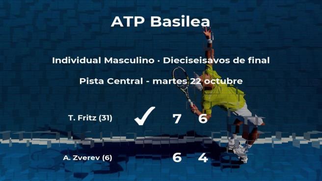 Sorpresa en el torneo ATP 500 de Basilea: el tenista Taylor Fritz consigue clasificarse para los octavos de final