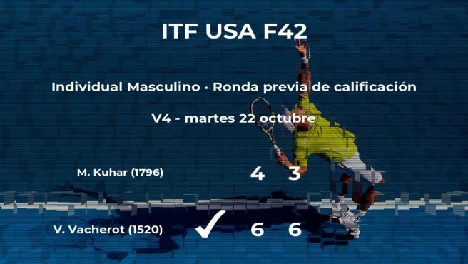 Valentin Vacherot pasa de ronda del torneo ITF USA F42