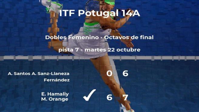Las tenistas Hamaliy y Orange pasan a la siguiente fase del torneo de Lousada tras vencer en los octavos de final