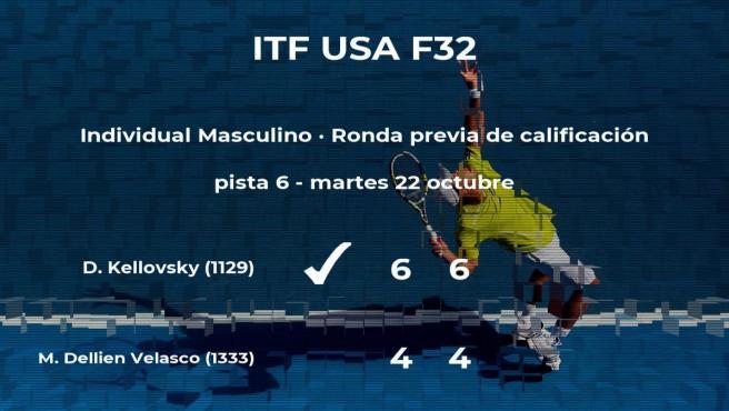 El tenista Dominik Kellovsky pasa de ronda del torneo de Fayetteville